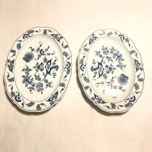 Two Blue Danube Serving Platters